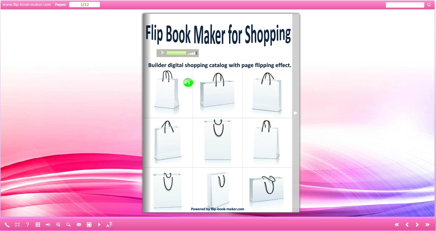 Reality three dimensions ebooks examples created by flip for Html flip book template