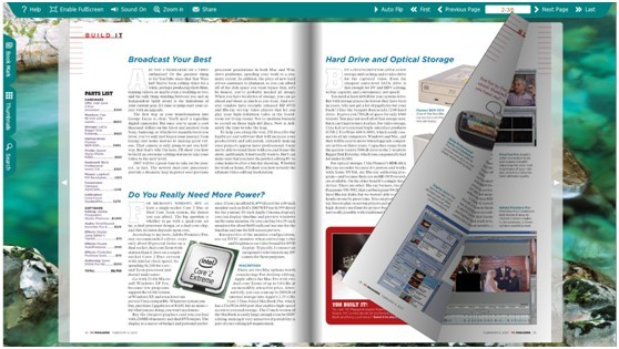 where to find the neat templates in flip book maker for office