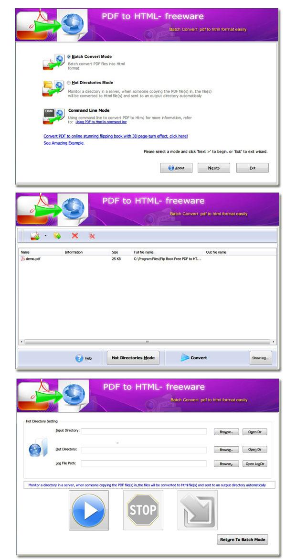 Windows 7 Flip Book Free PDF to HTML 1.0 full
