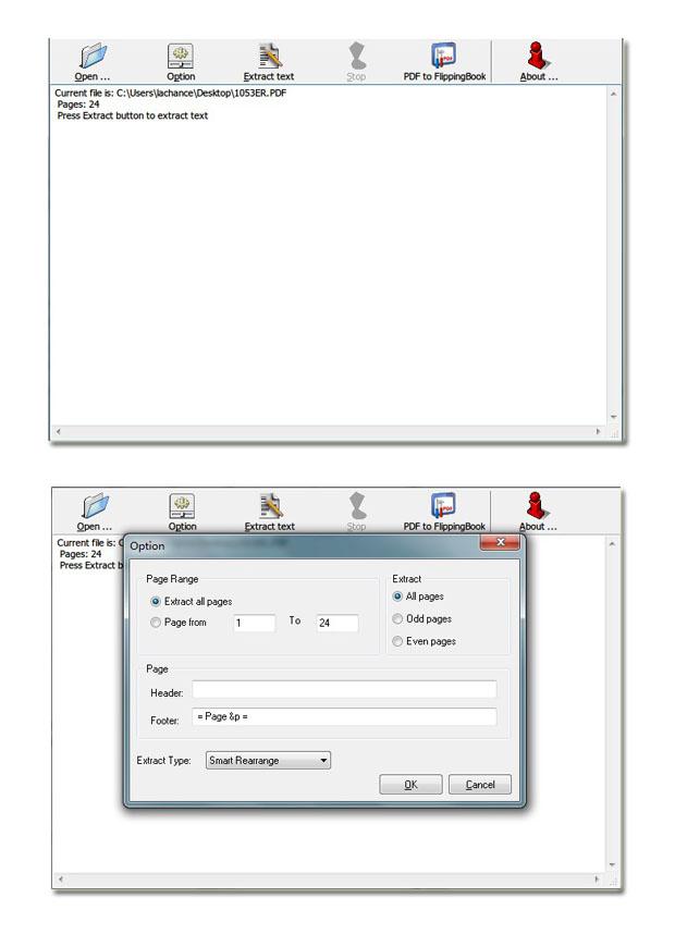 Windows 7 Flip Book Free PDF to Text 1.7 full