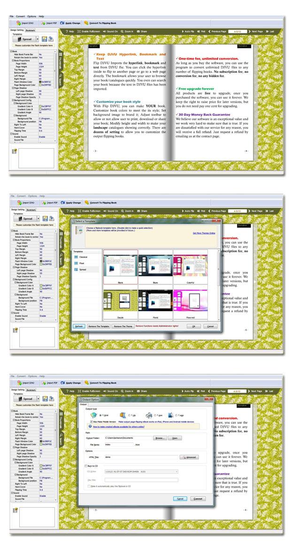 Flip Book Maker for DjVu screenshot