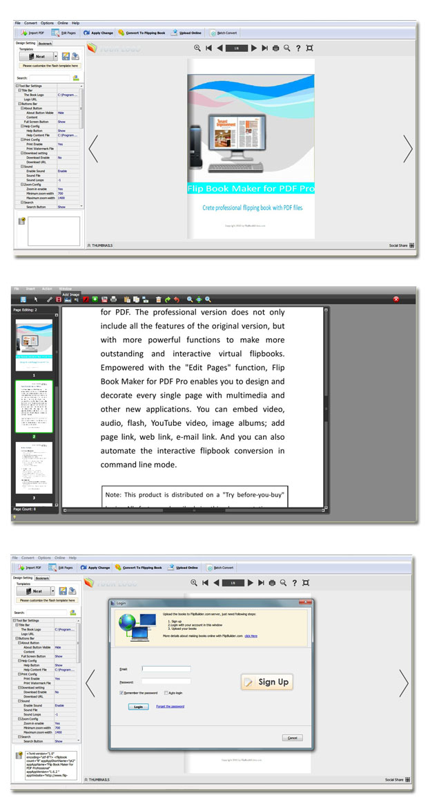 Windows 7 Flip Book Maker for PDF Professional 1.7 full