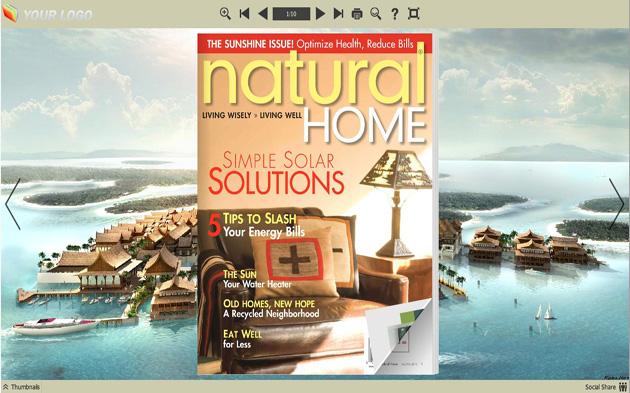 Flip Book Maker Themes for Design Style full screenshot