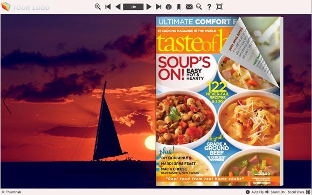 Windows 7 Flip Book Maker Themes for Sunset 1.0 full